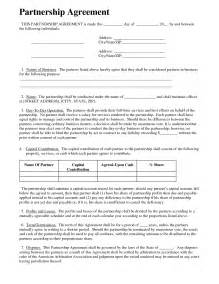 Llc Partnership Agreement Template Free Partnership Agreement Business Templates Pinterest