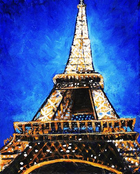 Sprei Eiffel Tower eiffel tower painting by anastasiya malakhova