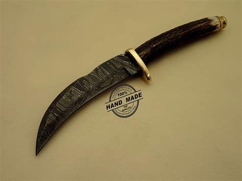 Custom Handmade Knife - damascus kukuri knife custom handmade damascus steel