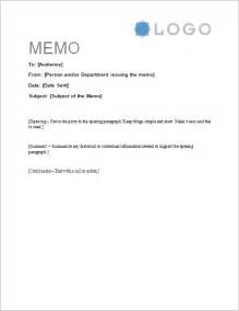 How To Write A Memo Template by Free Memorandum Template Sle Memo Letter