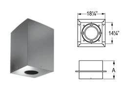 Duravent Ceiling Support Box by Fireplace M G Dura Vent 6 Duraplus Square Ceiling