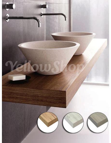 mensole per lavabo mensola per lavabo mensolone in legno cm 120x50xh10