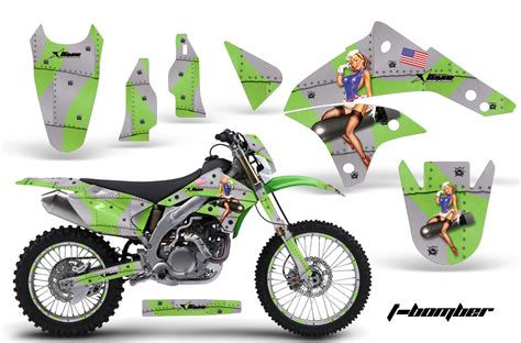 motocross bike graphics 2008 2016 klx450 graphics kit kawasaki motocross graphic