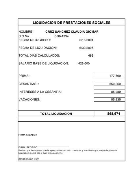calculo de prestaciones sociales 2016 liquidacion de prestaciones sociales 2016