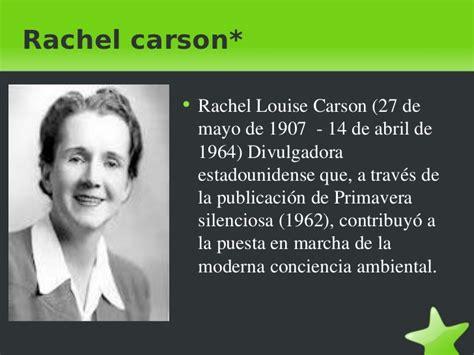 Presentación sobre Rachel Carson por Evelyn y Mati