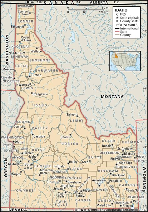 map of oregon idaho border state and county maps of idaho