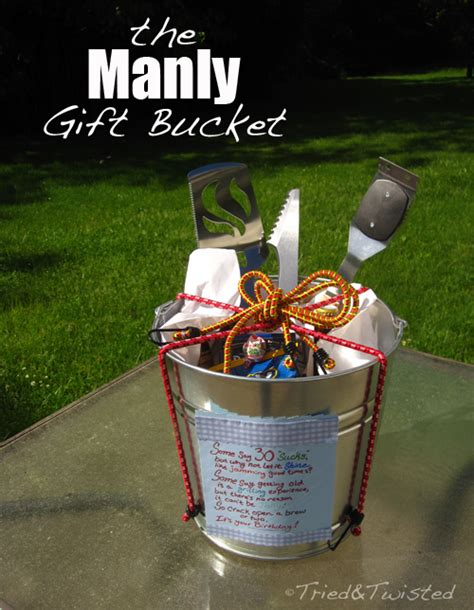 tried and twisted diy manly gift bucket