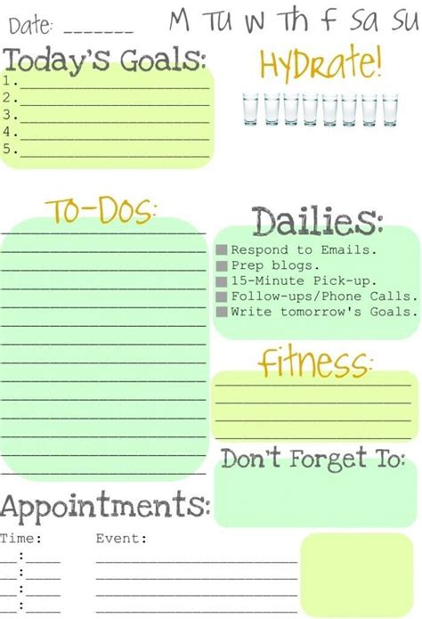 Organize Day | organize your day organize my life pinterest