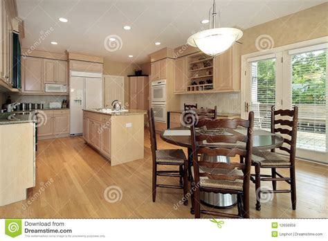 kitchen with eating area and island stock photography kitchen with eating area royalty free stock images image