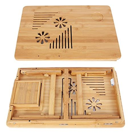 songmics bamboo laptop desk songmics 100 portable bamboo foldable laptop desk