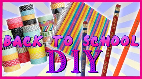 for to make at school back to school diy make your own school supplies