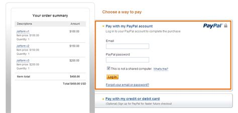 Credit Card Form Jotform Submit Button Problem With Paypal Express Vs Standard Jotform