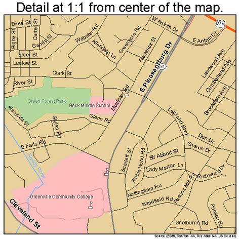 map of greenville carolina greenville south carolina map 4530850