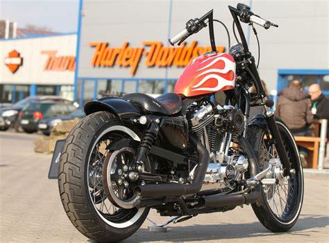 Harley Sportster 48 Tieferlegung by Thunderbike Gfk Heckfender 160mm F 252 R H D Sportster 04 15