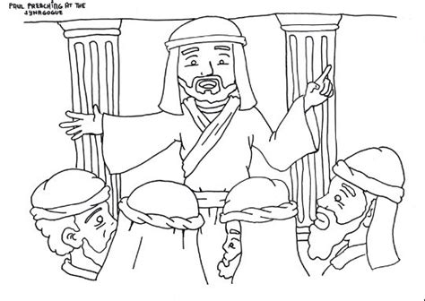 coloring pages for children s ministry quot paul preaching in the synagogue quot coloring page