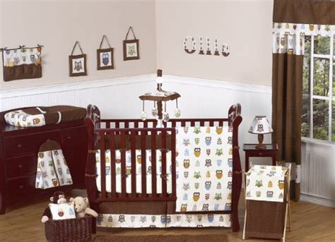 Night Owl Forest Nature Baby Boy Bedding 9 Pc Crib Set By Owl Crib Bedding For A Boy