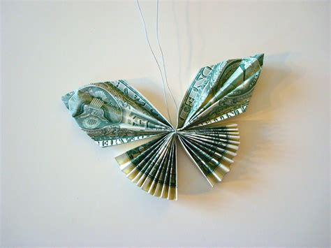 Dollar Bill Origami Butterfly - once upon a pink moon tutorial how to make a