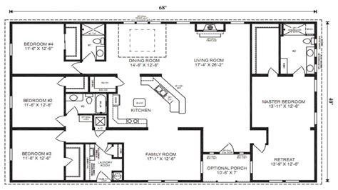manufactured home floorplans double wide mobile homes mobile modular home floor plans