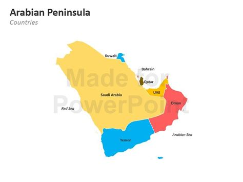 arabian peninsula map arabian peninsula map editable powerpoint slides