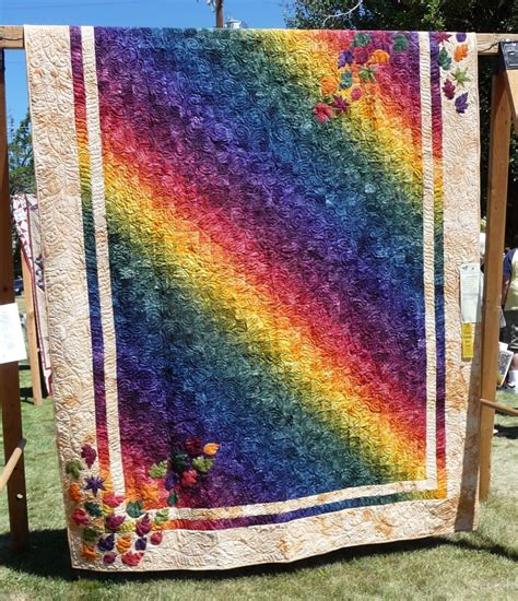 a quilt of layer cake bargello