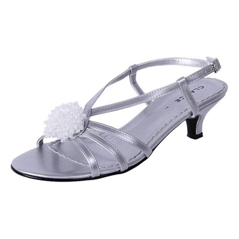 Comfortable Evening Shoes Heels by Cheap Clarice Womens Low Heel Comfortable Bridal Debutante