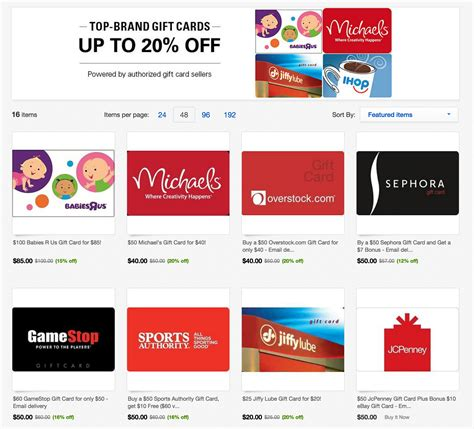 Gift Cards Sale - gift cards up to 20 off jcpenney sports authority steak n shake many more