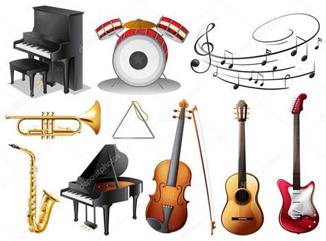 imagenes de instrumentos musicales zoña conjunto de instrumentos musicales vector de stock