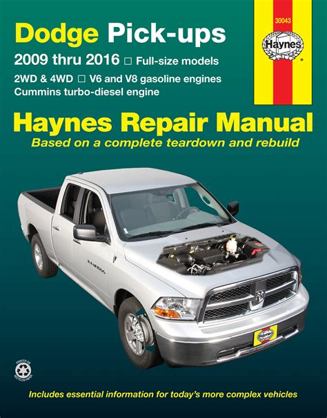 best car repair manuals 2002 dodge ram 1500 electronic toll collection dodge full size v6 v8 gas cummins turbo diesel pick ups 09 16 haynes repair manual usa