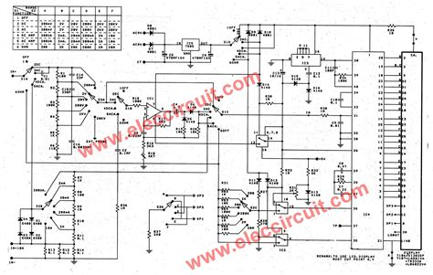circuit drawing digital multimeter circuit using icl7107