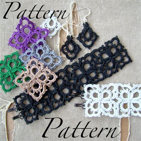 etsy tatting pattern pdf tatting pattern petals pendant bracelet