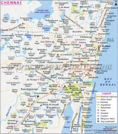 political map of chennai city road map all about india