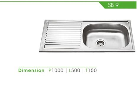 Kitchen Sink Royal Sb 1pk kitchen set royal detil produk sb 9 royal sink fortuna alumunium tirta stainless steel