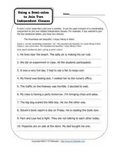 semicolon practice worksheet davezan