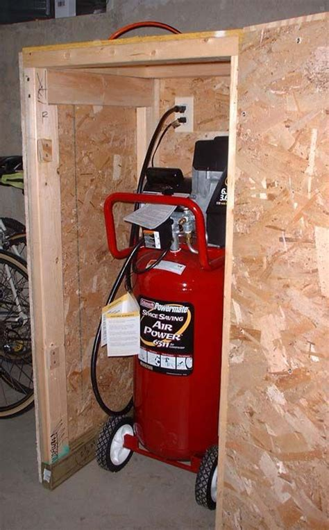 sound suppressing compressor enclosure garage design