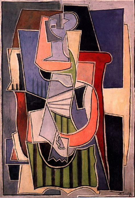 picasso woman in an armchair pablo picasso woman sitting in an armchair 1922