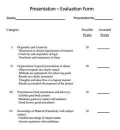 Evaluation Template For Presentation by Sle Presentation Evaluation 6 Documents In Pdf