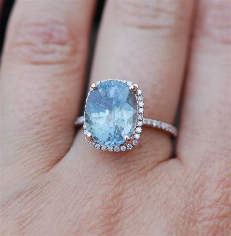 gold engagement ring 6 2ct teal blue green sapphire
