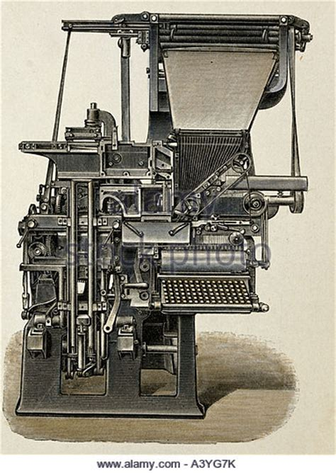 when was the linotype machine invented linotype stock photos linotype stock images alamy