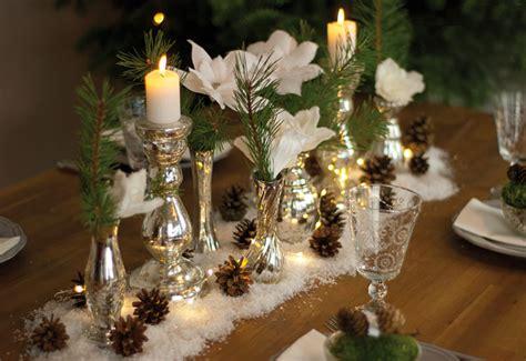 weihnachtliche tischdeko dekoidee ein glitzernder winterwald als weihnachtliche