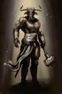 Minotaur warrior by bradlyvancamp on deviantart
