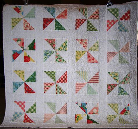 pinwheel quilt throw size moda swell by fabrics