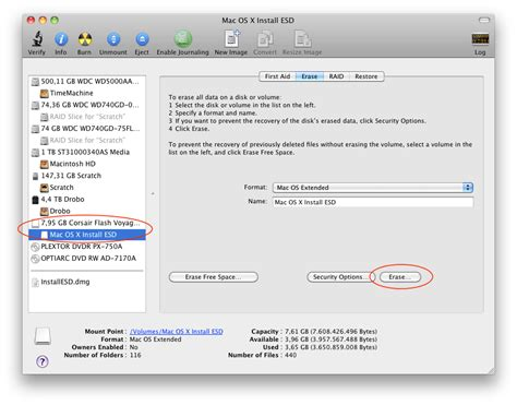 format hard drive mac os x extended journaled creating a bootable os x 10 7 lion disc update and usb