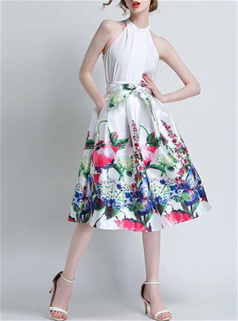 s skirt high waisted floral print