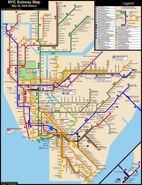 New York Subway Map With Streets by Www Mappi Net Maps Of Cities New York City