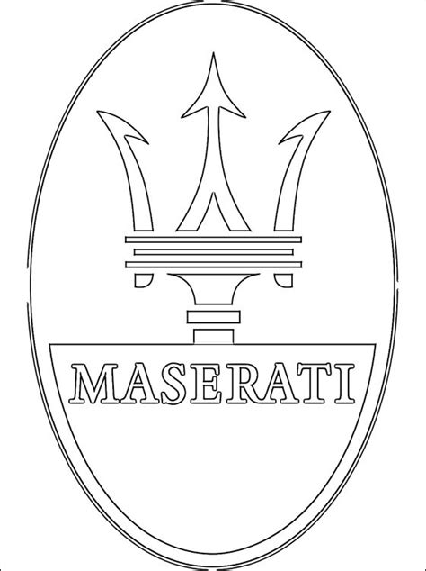 maserati logo drawing free coloring pages of maserati logo