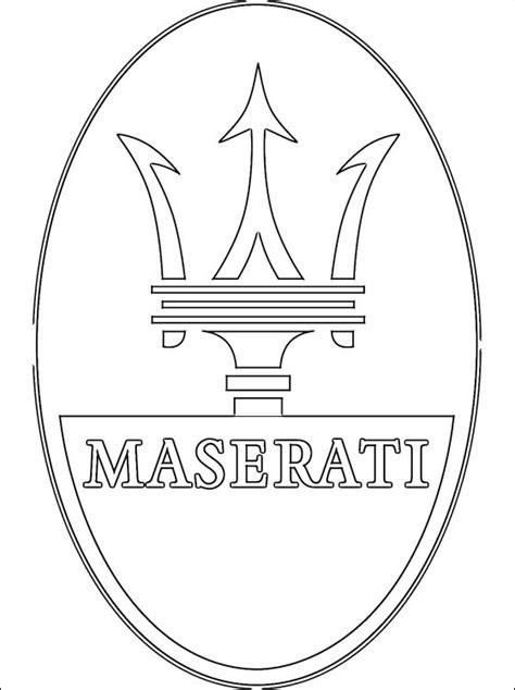 Logo Maserati da colorare   Disegni da colorare gratis