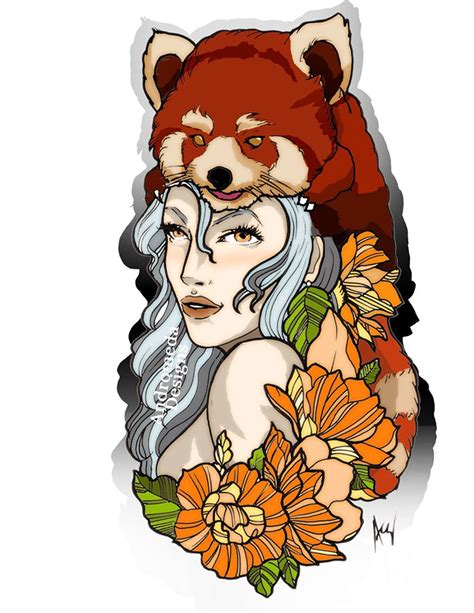 odd tattoo edmonton red panda hood part 1 done by andromeda at little buddha