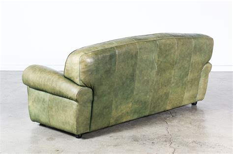 green vintage sofa vintage green leather sofa vintage supply store