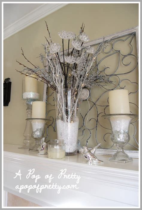 winter mantel decorating ideas winter mantel decor my mantel decorated for winter a