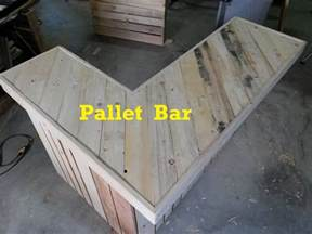 How To Make A Bar Top Out Of Wood by Terry In The Garage Pallet Bar Part 1